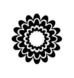 Black silhouette with flower figure vector