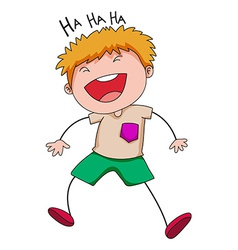 Boy laughing vector image