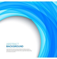Bright 3D blue background vector image