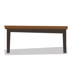 Brown wood coffee table vector image