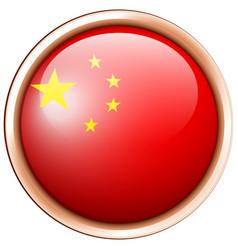 China flag flag on round frame vector