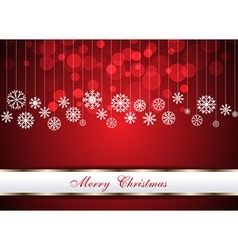 Christmas beautiful red background vector image vector image