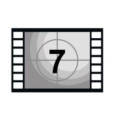 Cinema counter tape icon vector