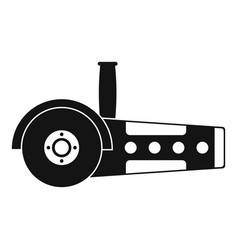 Circular saw icon simple vector