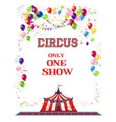circus holiday banner vector image
