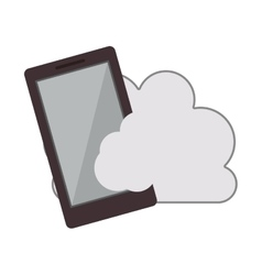 cloud with smartphone icon vector image vector image