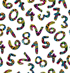 Colorful numbers seamless pattern vector image vector image