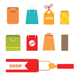 Colorful shopping bag set perfect for web page or vector