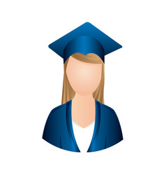 colorful woman graduation icon vector image vector image