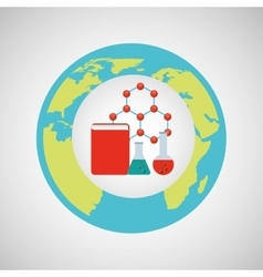 Concept science elements lab icon graphic vector