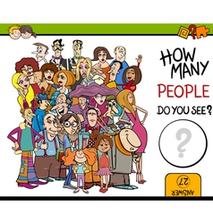 Counting people activity task vector