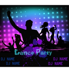 dancing party people vector image vector image