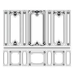 Decorative damask ornamented frames vector