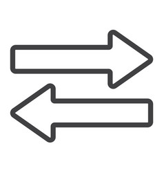 direction arrows line icon web and mobile vector image vector image