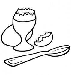 eggcup vector image vector image