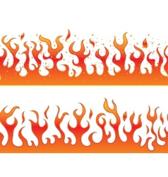 Flames on a white background - continuous curb vector