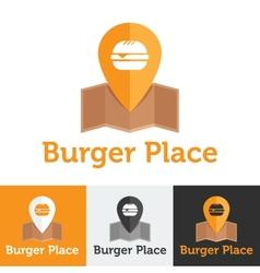 flat fast food cafe logo set vector image