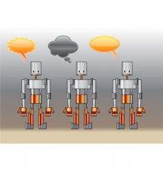 funny robots vector image vector image
