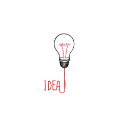 lamp bulb isolated over white background with vector image vector image