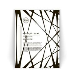 minimalist design brochures vector image vector image