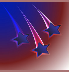 Patriotic usa flag colors background with three vector