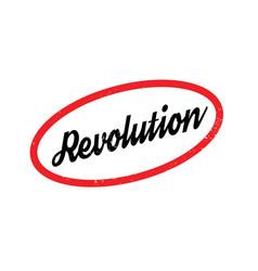 Revolution rubber stamp vector