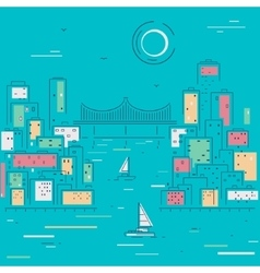 Sketch city vector