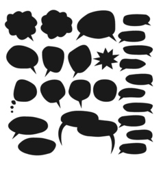 Speech bubble set vector image vector image