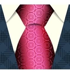 Suit and tie vector