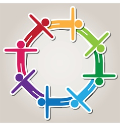 symbol of teamwork vector image vector image