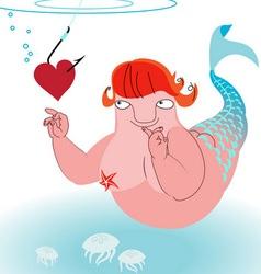 Underwater love vector