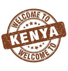 welcome to kenya vector image