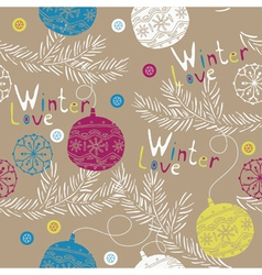 winter love wallpaper vector image vector image