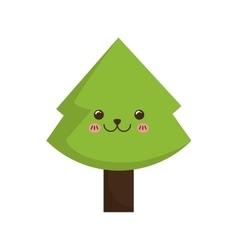 Xmas pine tree vector