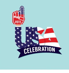 Vote usa celebration flag vector