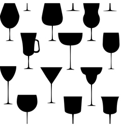 Alcoholic glass seamless pattern  eps 10 vector