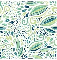 Floral seamless pattern green modern ornament vector