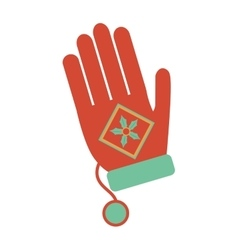 Christmas glove decorative icon vector