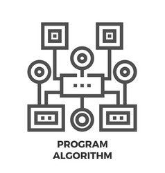 Program algorithm line icon vector
