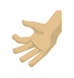 hand touching something vector image