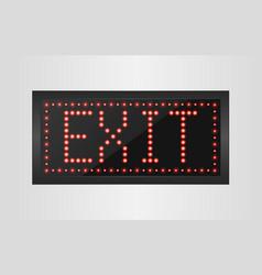 Led lights exit sign vector