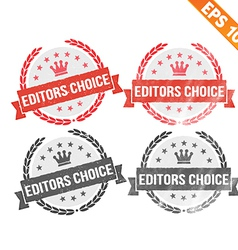 Rubber stamp editor choice - - eps10 vector