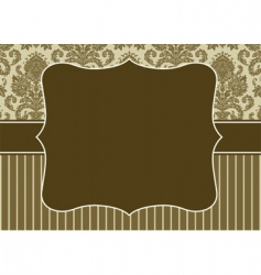 damask pattern and border vector image