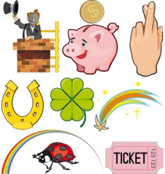 Good luck icons vector