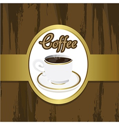 Coffee cup on grounge brackground with brown and g vector
