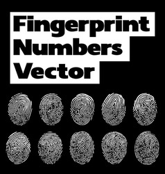 Fingerprint numbers vector