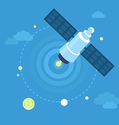 satellite concept in flat style vector image