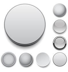Round grey icons vector