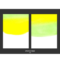Green and yellow watercolor background vector