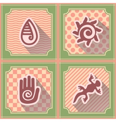 Seamless background with mexican relics dingbats vector